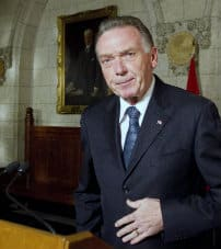 Environment Minister Peter Kent announces that Canada will withdraw from the Kyoto accord, outside the House of Commons on Parliament Hill in Ottawa, Dec. 12, 2011.