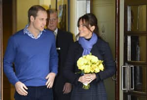 Britain's Prince William and Catherine, Duchess of Cambridge, leave King Edward VII hospital in London Dec. 6. Kate had spent four days being treated for acute morning sickness. She is expected to give birth in June.