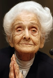Neurologist and senator for life Rita Levi Montalcini was a Nobel Prize winner for Medicine in 1986.