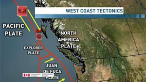 The earthquake happened along the same fault line as the one that struck off B.C.'s Haida Gwaii last October, but in a section that has not seen this kind of strong seismic activity for a few hundred years, says CBC meterologist and seismologist Johanna Wagstaffe.