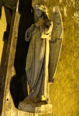 This angel statue was found outside a building in Bedford on Monday night.