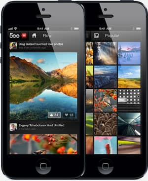 The 500px iPhone app had almost a million downloads when it was pulled from the app store.