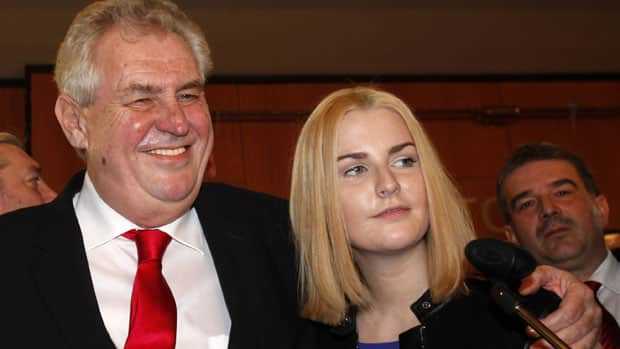 Milos Zeman, left, will replace Czech Republic's outgoing president Vaclav Klaus after winning the nation's first direct presidential election.