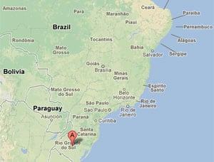 The Kiss nightclub is in Santa Maria, 300 kilometres west of the state capital, Porto Alegre.