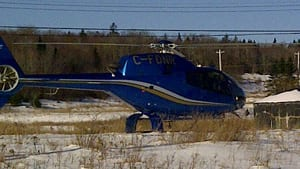 A helicopter from the Department of Natural Resources was used in the search off Beaver Bank Road.