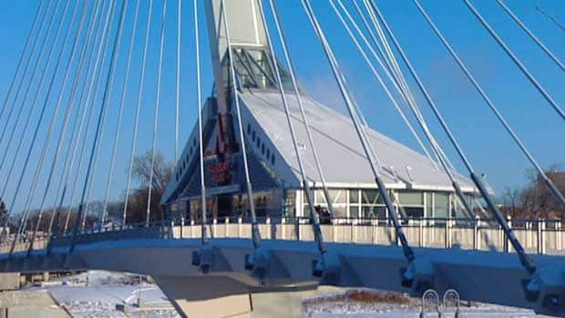 The City of Winnipeg has been looking for new tenants for this structure on the Esplanade Riel since Salisbury House closed its eatery there on Dec. 31.