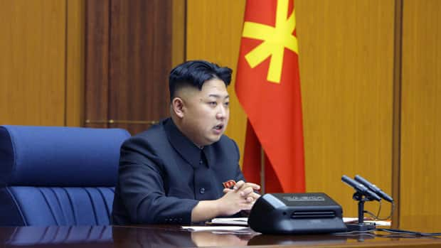 North Korean leader Kim Jong-un presides over an enlarged meeting of the Central Military Commission of the Workers' Party in this undated recent picture released by North Korea's official KCNA news agency in Pyongyang on Sunday.