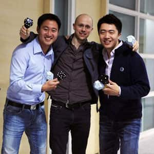 Gimmy Chu, Tom Rodinger and Christian Yan met in 2005 while working together on the University of Toronto student solar car project.