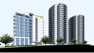 An artist's rendering of the proposed development.