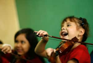 Among musicians who learned to play an instrument before the age of seven, earlier training was linked to more connections in the area of the brain that co-ordinates both hands.