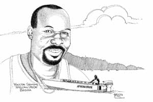 Brian Brooks always sketched as they cruised the Caribbean.