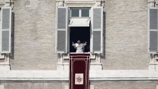 Pope Benedict, speaking before a larger than usual crowd at his penultimate Sunday address, asked the faithful to pray for him and for the next pope.
