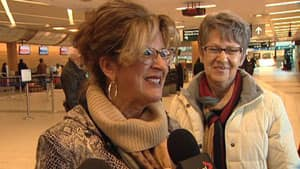 Jacqui Klebeck is with a group from Foam Lake, Sask., who are on their way to Paris to learn if one of their cookbooks wins an international charity award.