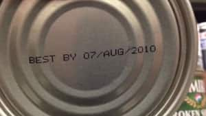 Cans of imported shrimp dated best before August 2010 were found on a Safeway store shelf in Coquitlam, B.C.