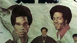From the cover of the Temptations album Solid Rock. On the left is Damon Harris and on the right, Richard Street. Both died in the past few days.