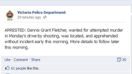 Victoria drive-by shooting suspect arrested