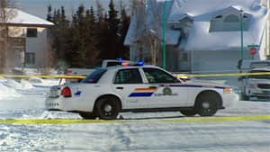 The scene on the Yellowknife street last March after the police shootout.