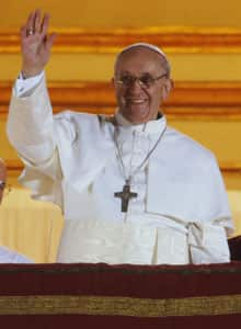 Pope Francis, born in Argentina, is the first pope to be elected from the Americas.