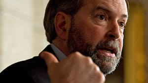 NDP Leader Thomas Mulcair questioned the budget's reliance on future growth to balance the books, saying the Conservatives' budget predictions have been consistently wrong.