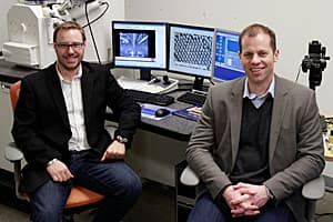 University of Calgary chemistry researchers Simon Trudel, left, and Curtis Berlinguette have started a company called Firewater Fuel Corp. to commercialize their discovery.