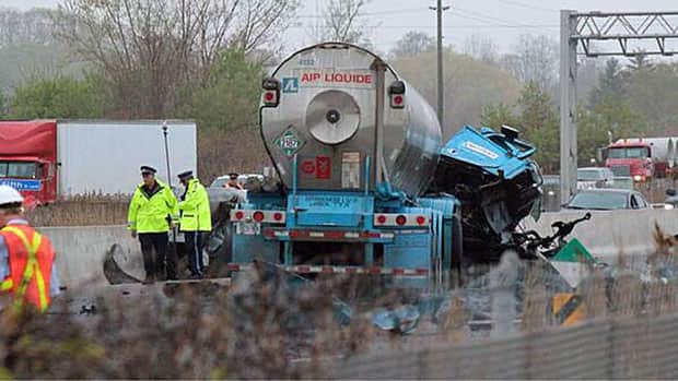 One person died in this crash on the QEW near St. Catharines on Thursday morning.
