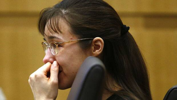 Jodi Arias cries as she listens to Steven Alexander, brother of murder ...
