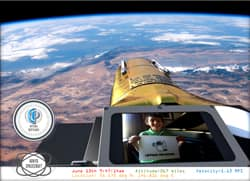 sm 250 arkyd space selfie - Space Telescope Crowdfunding Project Raises over $370,000 in a day