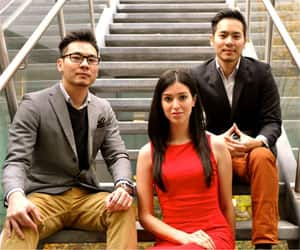 Toronto-based Giveffect is a crowfunding service publicly launched this week by co-founders (left to right) Allan Shin, Anisa Mirza and Kevin Shin.