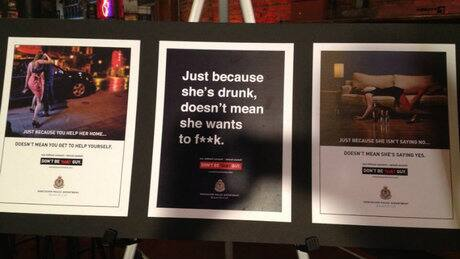 Provocative police campaign takes aim at sex assaults