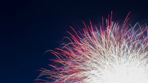 The fireworks competition has an estimated annual attendance of 1.4 million people.