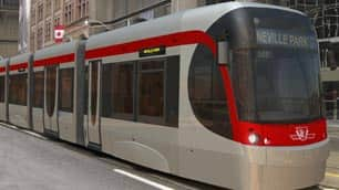New light rail streetcars are a main feature of Toronto's Transit City plan.