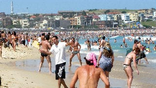 ...Sydney's Bondi Beach in January? HSBC has a theory.