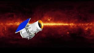 An artist's concept of NASA's WISE space telescope.