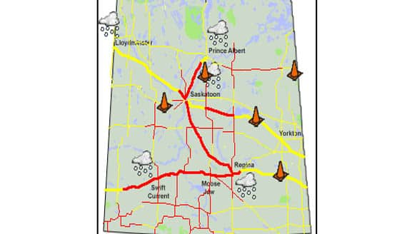 map of saskatchewan and manitoba. Red lines on the Saskatchewan