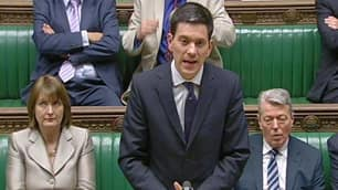 British Foreign Secretary David Miliband addresses the House of Commons after Britain expelled an Israeli diplomat on Tuesday.