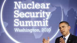 President Barack Obama is hosting more than 40 leaders in Washington for a conference on preventing terrorists from gaining nuclear bombs.