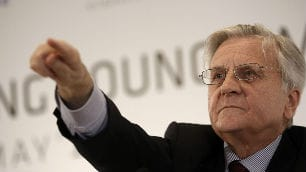 One portfolio manager blamed Thursday's market drop on European  Central Bank president Jean-Claude Trichet, above, who, the manager  said, failed to reassure markets about measures to support bank  lending.