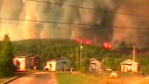 Four forest fires burn out of control on the Wemotaci reserve, about 300 kilometres north of Trois-Rivières on Thursday.