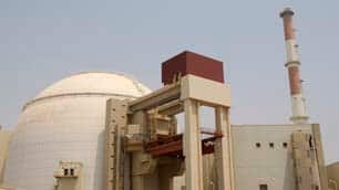 This file photo shows the reactor building of the Bushehr nuclear power plant, just outside the southern city of Bushehr, Iran, last August.