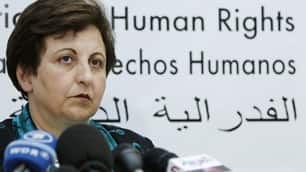 Iran's Nobel Peace Prize laureate Shirin Ebadi, seen in this September 2010 file photo, said Iran should not be awarded a seat on the board of a new UN agency to promote women's equality.