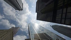 Canada's major banks, the headquarters of which are shown here, say they're ready for tougher new global banking rules.