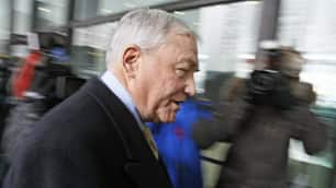 Conrad Black, seen here on Jan. 13, is appealing his fraud and obstruction of justice convictions to the U.S. Supreme Court.