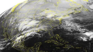 Satellite photo of storm taken Tuesday at 12:45 a.m. ET by the U.S. National Oceanic and Atmospheric Administration.