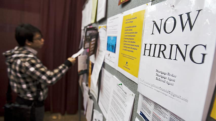 America's unemployment rate dropped by 0.3 percentage points to an almost four-year low.