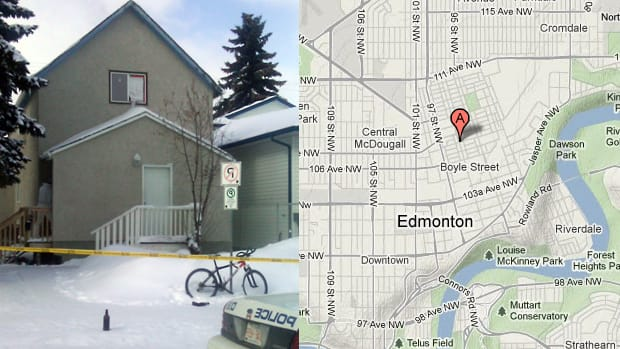 and 96th Street in Edmonton. (Andrea Huncar, CBC News and Google Maps)