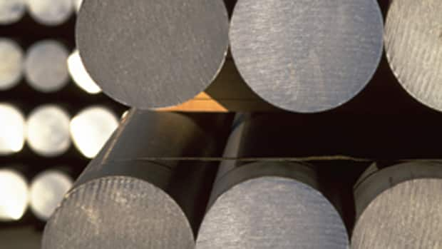 Aluminum ingots produced by Rio Tinto Alcan. TD Economics predicts stronger-than-expected commodity exports will lead to economic growth of three per cent this year.