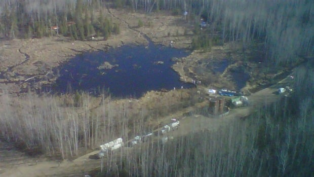 About 100 workers are mopping up after a leaking pipeline spilled 4.5 million litres of oil northeast of Peace River, Alta.