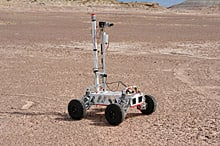 York's rover, E.V.E., is one of eight from around the world competing in the Mars-like sandstone desert near Hanksville, Utah.