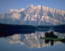 Two Jack Lake in Banff National Park, Canada's first national park.