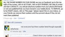 Status updates are circulating on Facebook warning smartphone users ...